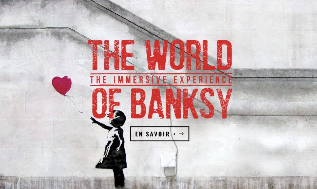 "Affiche de l'exposition ""The World of Banksy"""