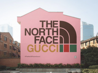 Affiche publicitaire de la collection The North Face X Gucci