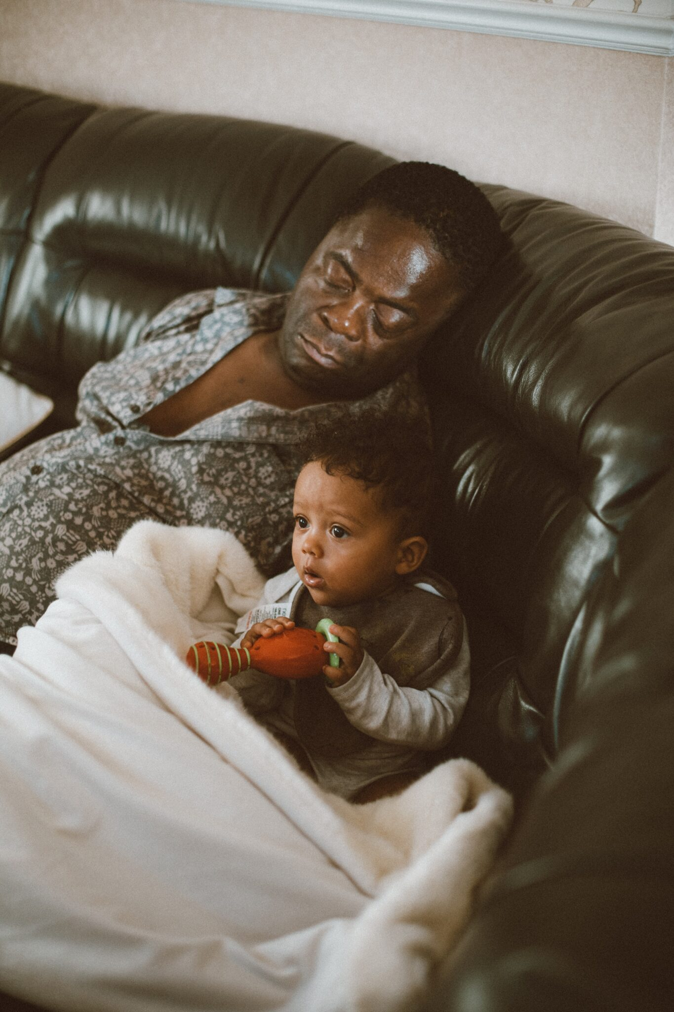 Father and son by Humphrey Muleba